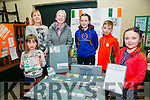 Nia Kirby's 1916 Easter Project at the Connolly Park celebration of the 1916 Rising on Monday. pictured  l-r  Tara Smith, Eva Kirby, Helen Smith, Ella Smith, Luke Healy, Nia Kirby