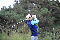Luke O'Neill of Ireland during Day 2 / Foursomes of the Boys' Home Internationals played at Royal Dornoch Golf Club, Dornoch, Sutherland, Scotland. 08/08/2018<br /> Picture: Golffile | Phil Inglis<br /> <br /> All photo usage must carry mandatory copyright credit (&copy; Golffile | Phil Inglis)