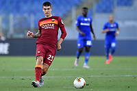 Gianluca Mancini of AS Roma in action during the Serie A football match between AS Roma and ACF Fiorentina at stadio Olimpico in Roma (Italy), July 26th, 2020. Play resumes behind closed doors following the outbreak of the coronavirus disease. <br /> Photo Antonietta Baldassarre / Insidefoto