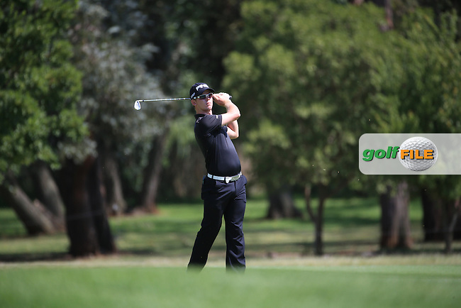 Brandon Stone (RSA) in action on the 18th fairway during Round Two of the 2016 BMW SA Open hosted by City of Ekurhuleni, played at the Glendower Golf Club, Gauteng, Johannesburg, South Africa.  08/01/2016. Picture: Golffile | David Lloyd<br /> <br /> All photos usage must carry mandatory copyright credit (&copy; Golffile | David Lloyd)