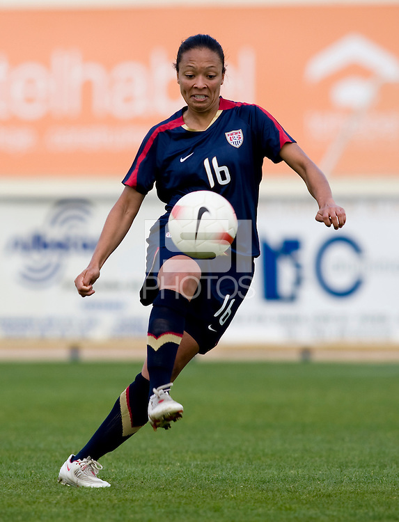 Angela Hucles.  The USWNT defeated Iceland, 1-0, at Ferreiras, Portugal.