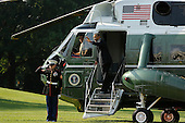 United States President Barack Obama waves as he boards Marine One for travel to campaign events in Texas, from the White House in Washington, D.C., U.S., on Tuesday, July 17, 2012. .Credit: Jonathan Ernst / Pool via CNP