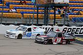 #18: Harrison Burton, Kyle Busch Motorsports, Toyota Tundra Morton Buildings and #45: Kyle Benjamin, Niece Motorsports, Chevrolet Silverado Kanga
