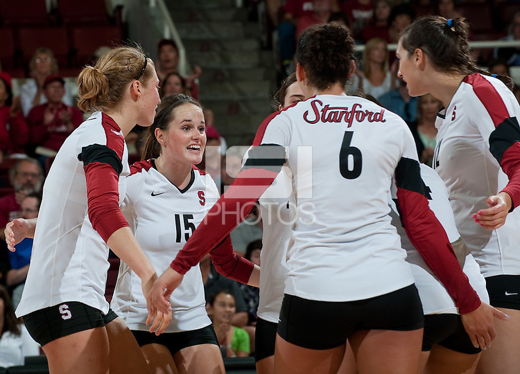 STANFORD, CA-OCTOBER 2, 2011- Stanford defeats Arizona in four sets at Maples Pavilion.