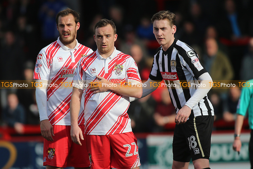 Charlie Lee of Stevenage (C) during Stevenage vs Notts County, Sky Bet EFL League 2 Football at the Lamex Stadium on 4th March 2017