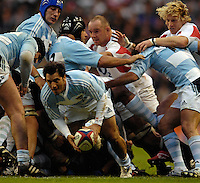 Twickenham. GREAT BRITAIN, Agustin PICHOT, during the, 2006 Investec Challenge, game between, England  and Argentina, on Sat., 11/11/2006, played at the Twickenham Stadium, England. Photo, Peter Spurrier/Intersport-images].....