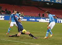 NAPOLI 25/01/2012 - COPPA ITALIA  2011/2012  QUARTI. INCONTRO NAPOLI - INTER. NELLA FOTO   EDINSON CAVANI  GOL 2 0.FOTO CIRO MESSERE