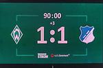 13.01.2018, Weserstadion, Bremen, GER, 1.FBL, SV Werder Bremen vs TSG 1899 Hoffenheim<br /> <br /> im Bild<br /> Anzeigetafel / Endstand, Feature<br /> <br /> Foto &copy; nordphoto / Ewert