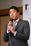 Hideo Tanzawa, <br /> AUGUST 10, 2015 : <br /> Yamato Holdings has Press conference in Tokyo. <br /> Yamato Holdings announced that <br /> it has entered into a partnership agreement with <br /> the Tokyo Organising Committee of the Olympic and Paralympic Games. <br /> With this agreement, Yamato Holdings becomes the official partner. <br /> (Photo by YUTAKA/AFLO SPORT)
