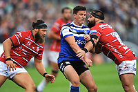 Freddie Burns of Bath Rugby in action during the Gallagher Premiership Rugby match between Bath Rugby and Gloucester Rugby at The Recreation Ground on Saturday 8th September 2018 (Photo by Rob Munro/Stewart Communications)
