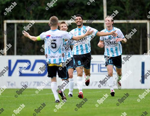 2011-08-17 / Voetbal / seizoen 2011-2012 / Bornem - Geel-Meerhout / Issame Charai (9) scoorde de 0-1 voor VGM..Foto: mpics