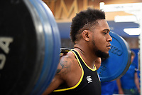 Levi Douglas of Bath Rugby in the gym. Bath Rugby pre-season training on July 2, 2018 at Farleigh House in Bath, England. Photo by: Patrick Khachfe / Onside Images