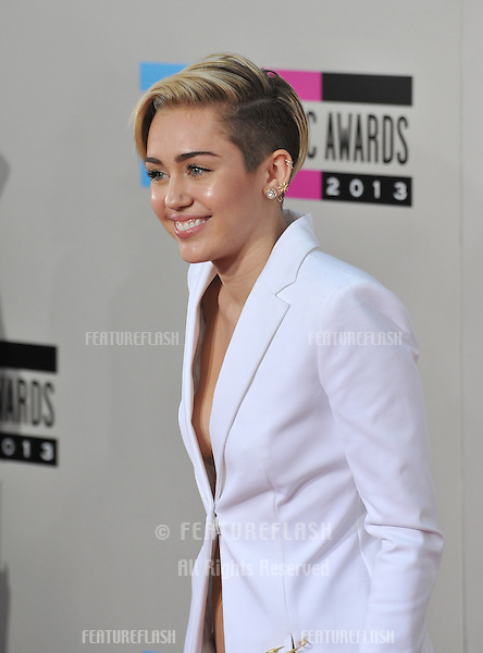 Miley Cyrus at the 2013 American Music Awards at the Nokia Theatre, LA Live.<br /> November 24, 2013  Los Angeles, CA<br /> Picture: Paul Smith / Featureflash
