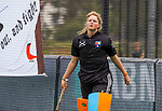 BLOEMENDAAL - keeper Danique Visser (Bl'daal)  , 2e play out wedstrijd tussen Bloemendaal-HGC dames (2-0). COPYRIGHT KOEN SUYK