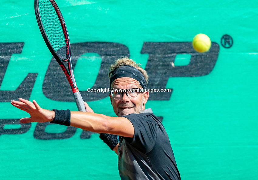 Hilversum, The Netherlands, September 2, 2018,  Tulip Tennis Center, NKS, National Championships Seniors, Men's 45+ final: Jeroen Bok (NED) <br /> Photo: Tennisimages/Henk Koster