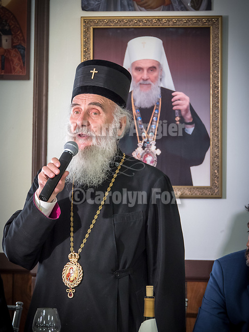 Patriarch Irinej speaks and closes the festivities at the end of the Banquet after the fabulous Glorification of St. Mardarije at the fellowship hall, New Gracanica Monastery, Third Lake, Illinois, with Patriarch Irinej and hosted by Bishop Longin.<br /> <br /> #NGMWADiocese<br /> #GlorificationStMardarije, #Chicago, #PatriarchIrinej, #MetropolitanAmphiloije<br /> #SerbianOrthodoxChurchPatriarchal Divine Liturgy service with His Holiness Irinej to venerate and glorify the relics of St. Mardarije of Libertyville, St. Sava Monastery Church<br /> <br /> #NGMWADiocese<br /> #GlorificationStMardarije, #Chicago, #PatriarchIrinej, #MetropolitanAmphiloije<br /> #SerbianOrthodoxChurch<br /> #www.stsavamonastery.org