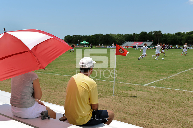 Fans watch a game during day three of the US Soccer Development Academy  Spring Showcase in Sarasota, FL, on May 24, 2009.