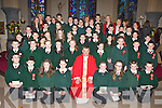 Firies NS pupils who were confirmed by Fr Kieran O'Brien in St Gertrudes church Firies on Friday with their the school staff and Fr Tadhg O'Doherty..