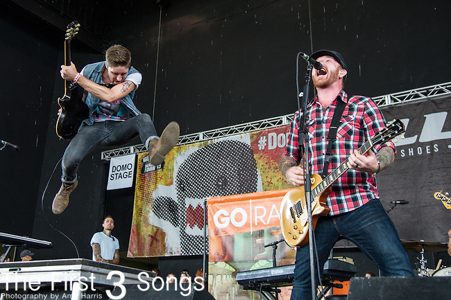 Alex Reed and Jason Lancaster of Go Radio performs during the Vans Warped Tour at the Klipsch Music Center in Indianapolis, IN.