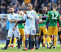 Blackburn Rovers' Elliott Bennett looks dejected as he applauds the fans at the final whistle <br /> <br /> Photographer Rich Linley/CameraSport<br /> <br /> The EFL Sky Bet Championship - Blackburn Rovers v Preston North End - Saturday 9th March 2019 - Ewood Park - Blackburn<br /> <br /> World Copyright © 2019 CameraSport. All rights reserved. 43 Linden Ave. Countesthorpe. Leicester. England. LE8 5PG - Tel: +44 (0) 116 277 4147 - admin@camerasport.com - www.camerasport.com