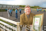 WELCOME NEWS: Dermot Walsh, rinciple of Dromtrasna National School in Abbeyfeale, pictured outside the Uni Block school which will be replaced with a new school.   Copyright Kerry's Eye 2008