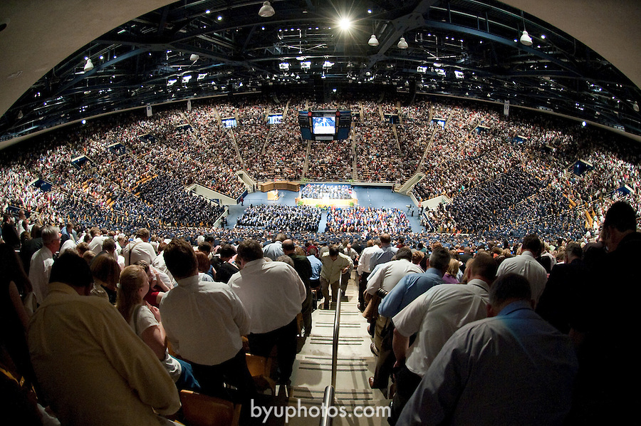 0904-53 1435.NEF..0904-53 April Commencement..BYU April Commencement - President Dieter F. Uchtdorf receives an Honorary Doctorate and Elder Russell M. Nelson speaks during the April Commencement. President Cecil. O Samuelson..April 23, 2009..Photo by Kenny Crookston/BYU..© BYU PHOTO 2009.All Rights Reserved.photo@byu.edu  (801)422-7322