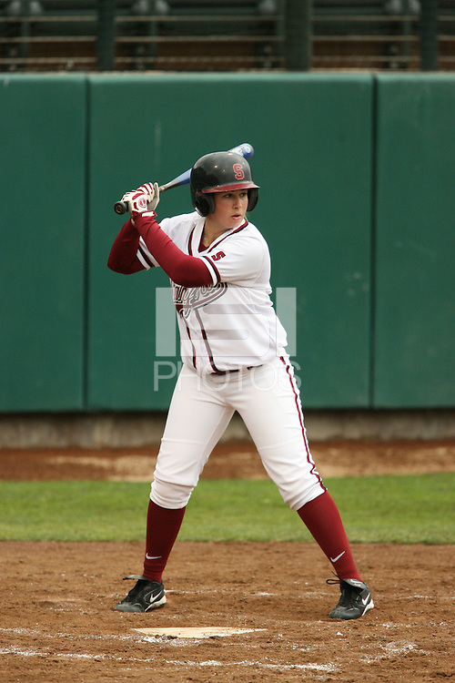 17 February 2006: Michelle Smith during Stanford's 13-1 win over Santa Clara at the Jill and Boyd Smith Stadium in Stanford, CA.