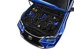 Car stock 2017 Lexus GS F 4 Door Sedan engine high angle detail view