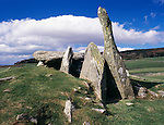 Standing stones Scotland Cairnholy Neolithic Chambered burial Cairns near Creetown Galloway Scotland UK