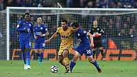 Leicester City's Shinji Okazaki and Tottenham Hotspur's Mousa Dembele<br /> <br /> Photographer Stephen White/CameraSport<br /> <br /> The Premier League - Leicester City v Tottenham Hotspur - Thursday 18th May 2017 - King Power Stadium - Leicester <br /> <br /> World Copyright &copy; 2017 CameraSport. All rights reserved. 43 Linden Ave. Countesthorpe. Leicester. England. LE8 5PG - Tel: +44 (0) 116 277 4147 - admin@camerasport.com - www.camerasport.com