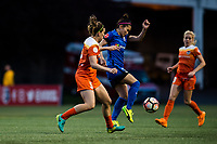 Seattle, Washington -  Saturday April 22, 2017: Nahomi Kawasumi during a regular season National Women's Soccer League (NWSL) match between the Seattle Reign FC and the Houston Dash at Memorial Stadium.