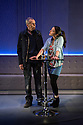 Edinburgh, UK. 01.08.2014.  UNFAITHFUL opens at the Traverse Theatre, as part of Edinburgh Festival Fringe. Picture shows: Benny Young (Tom) and Amiera Darwash (Cara). Photograph © Jane Hobson.