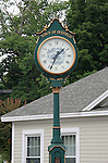 Clock in Dixfield, Maine, USA