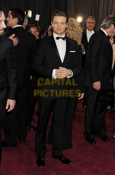 Jeremy Renner.85th Annual Academy Awards held at the Dolby Theatre at Hollywood & Highland Center, Hollywood, California, USA..February 24th, 2013.oscars full length black tuxedo white shirt bow tie .CAP/ROT/TM.©Tony Michaels/Roth Stock/Capital Pictures