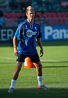 July 21, 2010  Bolton Wanderer Stuart Holden No. 8 in action during the warm-up of the Carlsberg Cup match between the Bolton Wanderers FC and Toronto FC at BMO Field in Toronto..Th Bolton Wanderrs FC won 4-3 on penalty kicks.