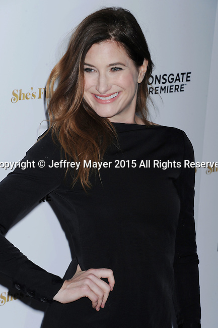 LOS ANGELES, CA - AUGUST 19: Actress Kathryn Hahn arrives at the Premiere Of Lionsgate Premiere's 'She's Funny That Way' at Harmony Gold on August 19, 2015 in Los Angeles, California.