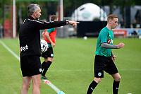 GRONINGEN - Voetbal, Eerste training FC Groningen, Corpus den Hoorn, seizoen 2019-2020, 22-06-2019, aanwijzingen van FC Groningen assistent-trainer Adrie Poldervaart