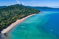 Luftaufnahme von Plage de N'Gouja, Strand von N Gouja, Kani-Keli, Mayotte, Indian Ocean, Indischer Ozean / Aerial View from Plage de N'Gouja, Beach of N Gouja, Kani-Keli, Mayotte, Indian Ocean