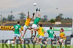 Sean Connell St Kierans and Bryan Sheehan South Kerry rise high during their SFC QF clash in Fitzgerald Stadium on Sunday