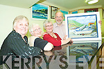 Getting arty: Norah Lucid (Buds manager) with Ballyduff Active Retirement artists Pamela Browne and May and Bob Scott at the Buds Family Resource Centre Tea Dance and art exhibition in Ballyduff on Monday.