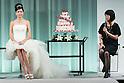 (L to R) Japanese model Hikari Mori and editor in chief Emi Aizo speak during the Special Dress Collection organised by 25 ans Wedding on November 1, 2015, Tokyo, Japan. The fashion magazine celebrates 30 years anniversary with a runway called Special Dress Collection in Roppongi Hills. (Photo by Rodrigo Reyes Marin/AFLO)