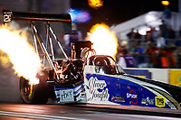 Sep 29, 2017; Madison , IL, USA; NHRA top fuel driver Terry Haddock during qualifying for the Midwest Nationals at Gateway Motorsports Park. Mandatory Credit: Mark J. Rebilas-USA TODAY Sports