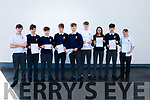 Kenmare pupils get their Junior Cert Results at Pobailscoil Inbhear Sceine on Wednesday L-R: Aodhan Noonan Power, Tim Murphy, Evan O'Callaghan, Cian O'Connor, Boki Nikic, Conor O'Brien, Alyce O'Connor, Daragh O'Brien and Joseph Healy