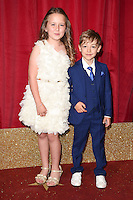 Ela May Demircan and Williams Hill<br /> arrives for the British Soap Awards 2016 at Hackney Empire, London.<br /> <br /> <br /> &copy;Ash Knotek  D3124  28/05/2016