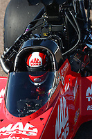 Feb 23, 2019; Chandler, AZ, USA; NHRA top fuel driver Doug Kalitta during qualifying for the Arizona Nationals at Wild Horse Pass Motorsports Park. Mandatory Credit: Mark J. Rebilas-USA TODAY Sports