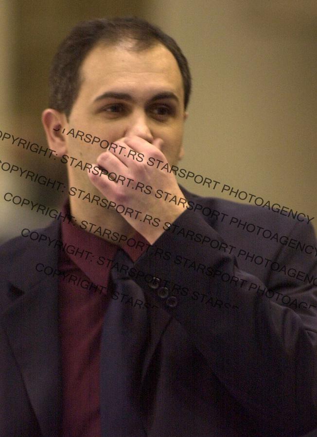 SPORT KOSARKA REFLEX REFLEKS FMP ZELEZNIK CIBONA JADRANSKA GOODYEAR LIGA Drazen Anzulovic trener Cibone 29.02.2004. foto: Pedja Milosavljevic<br />