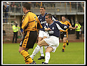 24/8/02         Copyright Pic : James Stewart                     .File Name : stewart-alloa v falkirk 04.CRAIG MCPHERSON FIRES HOME FALKIRK'S FIRST GOAL.......James Stewart Photo Agency, 19 Carronlea Drive, Falkirk. FK2 8DN      Vat Reg No. 607 6932 25.Office : +44 (0)1324 570906     .Mobile : + 44 (0)7721 416997.Fax     :  +44 (0)1324 570906.E-mail : jim@jspa.co.uk.If you require further information then contact Jim Stewart on any of the numbers above.........