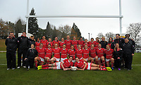 The Canada team poses for a group photo after the 2017 International Women's Rugby Series rugby match between Canada and Australia Wallaroos at Smallbone Park in Rotorua, New Zealand on Saturday, 17 June 2017. Photo: Dave Lintott / lintottphoto.co.nz