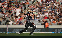 Martin Guptill  on his way to a magnificent century during the Black Caps v Australia international T20 cricket match at Eden Park in Auckland, New Zealand. 16 February 2018. Copyright Image: Peter Meecham / www.photosport.nz