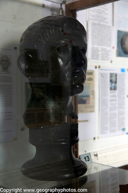 Replica bust of the Roman Emperor Claudius, Rendham, Suffolk, England, UK